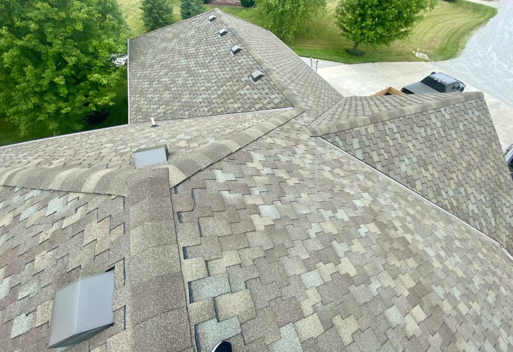 aerial view with asphalt shingles