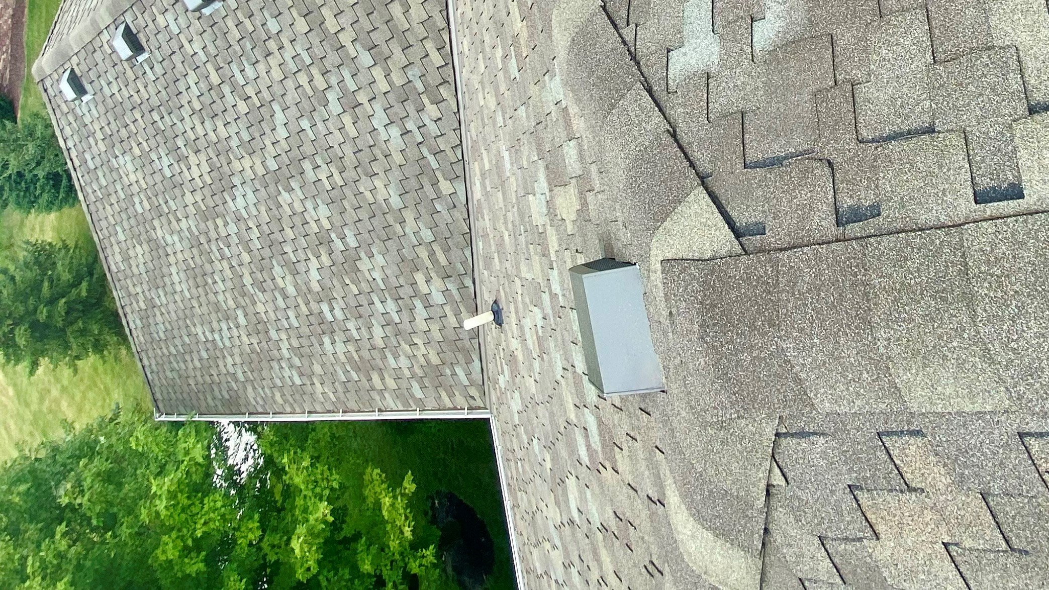 top look at residential shingles