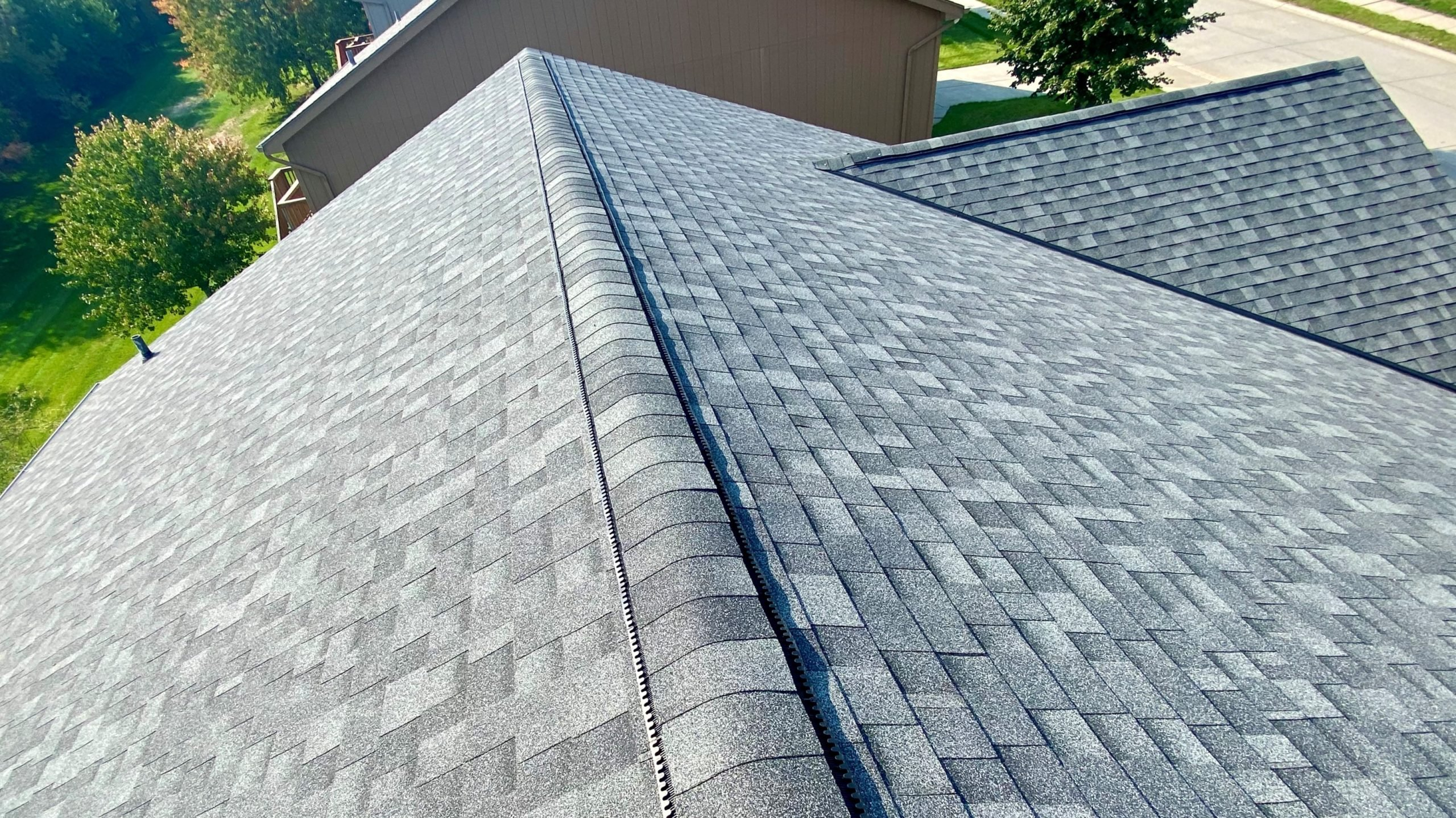 new shingles installed on residential property