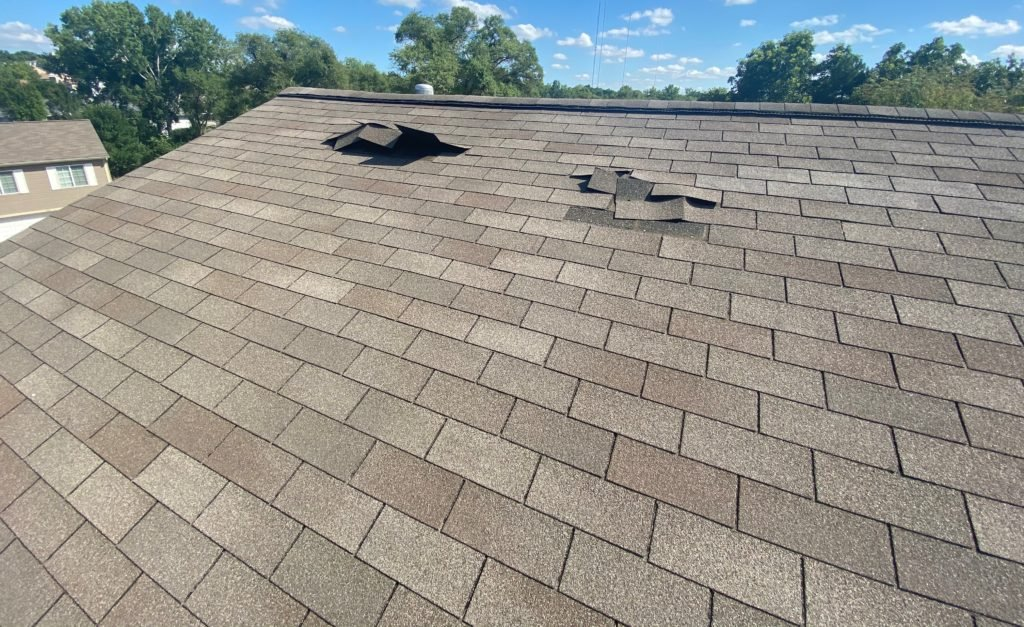 roof in omaha with storm damage and exteriors