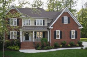 home exterior with energy-saving windows